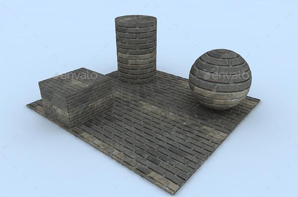3DOcean Dirty wall brick Texture 19817098