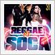 Reggae vs Soca Club Party Flyer