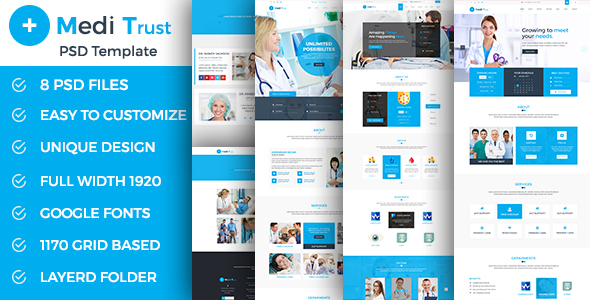 Meditrust - Medical PSD Template