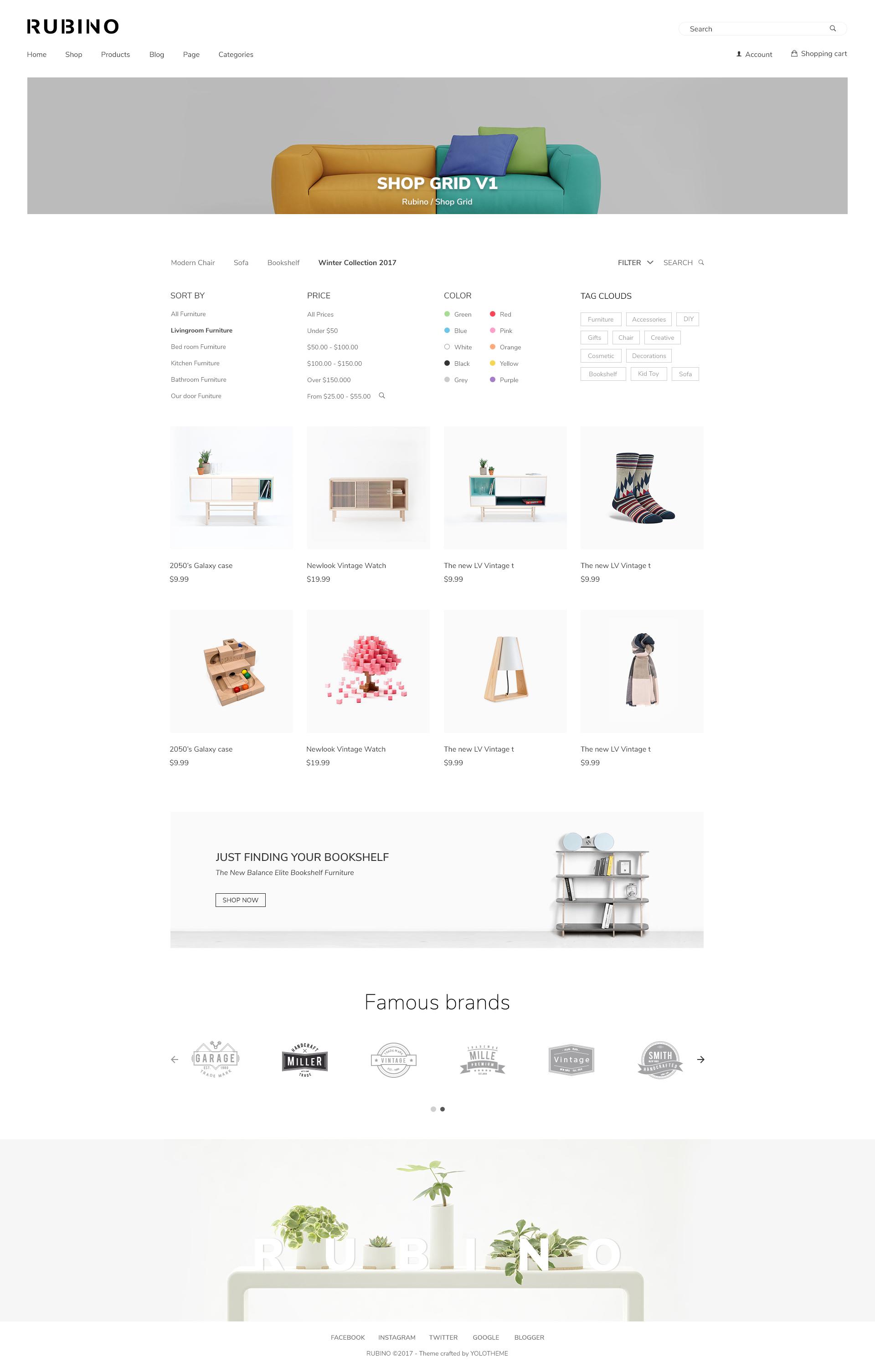 rubino minimal creative woocommerce theme by yolotheme