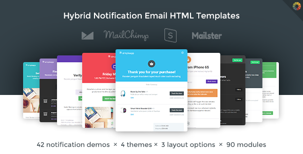 SimpleApp - Hybrid Notification Email HTML Templates