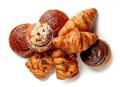 various freshly baked pastries