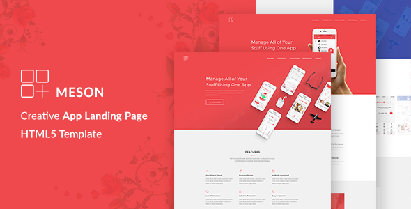 Meson - App Landing Page with Blog