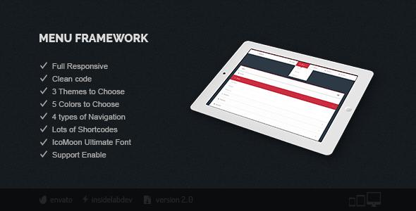 Menu Framework - CodeCanyon Item for Sale