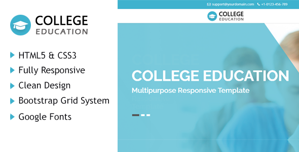 Download College Education HTML Responsive Template