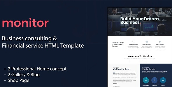 Monitor - Business Consulting and Financial Services HTML Template