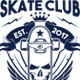 Skate Club T-Shirt Illustration