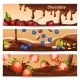 Cartoon Chocolate Horizontal Banners