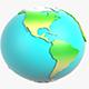 Cartoon US Globe