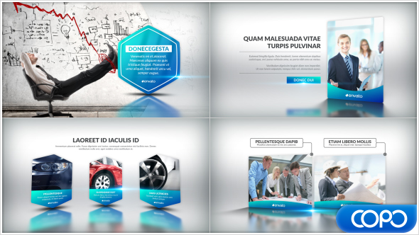 clean corporate presentation video (corporate) after effects, Presentation templates