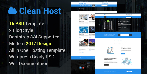 Clean Host PSD Template