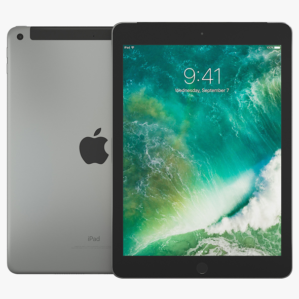 3DOcean Apple iPad 9.7 2017 Wi-Fi & Cellular 19820448