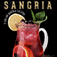 Sangria Cocktail Flyer Template