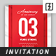Anniversary Invitation Template