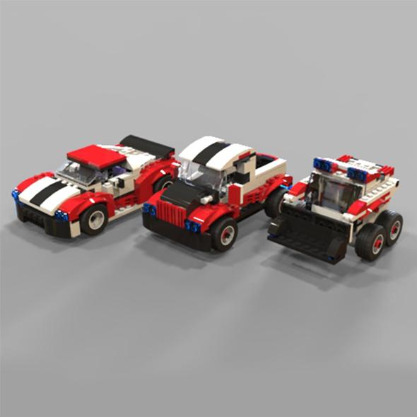 3DOcean Lego car pack 2 19821220