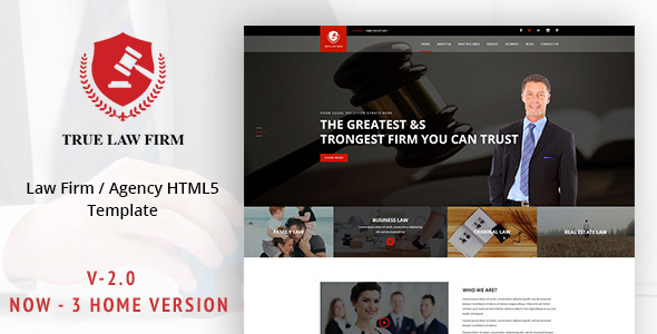 True LAW - Lawyer & Attorney Template