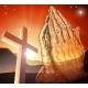 Christian Cross Praying Hands