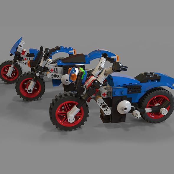 3DOcean Lego motorcycle pack 19821975