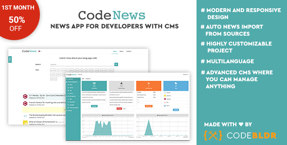 CodeNews – News App for Developers with CMS (Miscellaneous) images