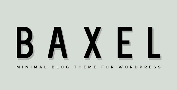 Baxel – Minimal Weblog Theme for WordPress (Individual)