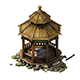 Game Model - prairie scene - wooden gazebo 01