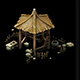 Game Model - prairie scene - wooden gazebo 02 01