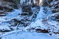 Valea lui Stan Gorge in winter, Romania