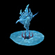 Game Model - snow - ice dragon column 01