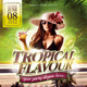 Tropical Flavour Flyer Template - GraphicRiver Item for Sale