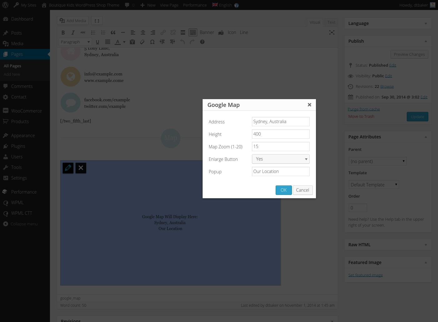 Google themes editor -  9 A Google Map Shortcode Editor Png