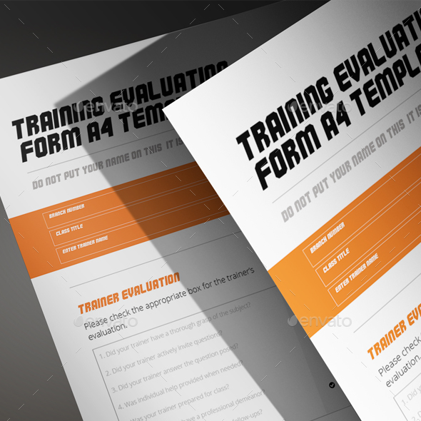 Training Evaluation Form A4 Template by Keboto – Training Evaluation Form