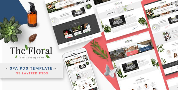 Floral - Spa and Beauty PSD Template