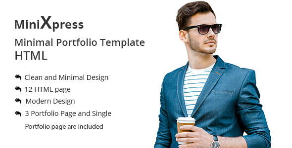 Download minixpress Minimal Portfolio HLTML5 Template