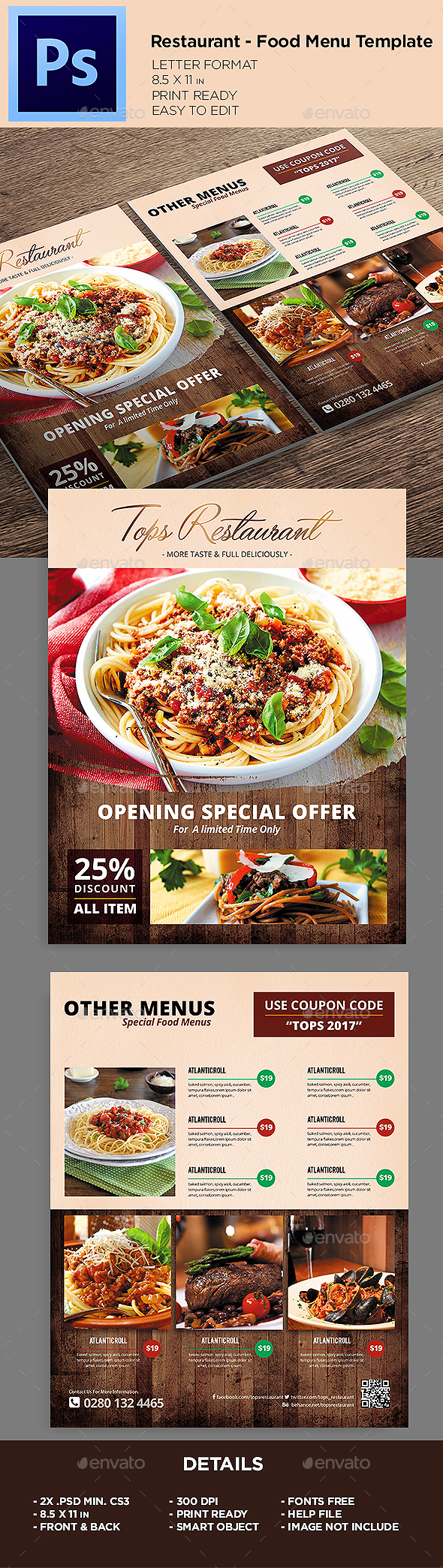 Restaurant Menu- Food Menu Flyer Template