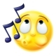 Emoji Emoticon Whistling Tune Happily