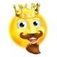 King Emoji Emoticon