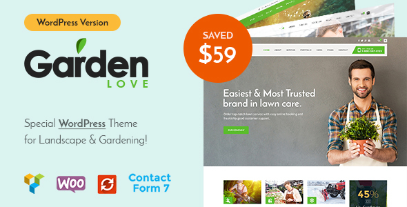 GardenLove - Gardening & Landscaping WordPress Theme