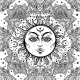 Floral Paisley Sun Face Pattern