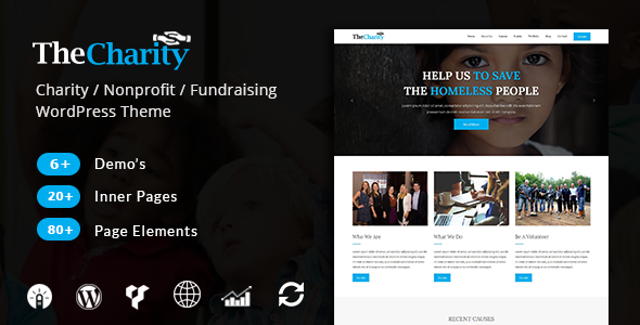 Download The Charity - Charity / Nonprofit / Fundraising WordPress Theme