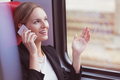 Businesswoman and phone call