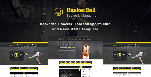SportsMagazine Basketball, Soccer, Football Sports Club and News HTML Template