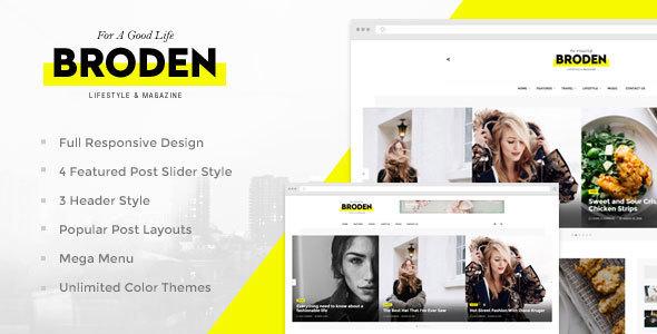 Broden - Lifestyle Blog / Magazine