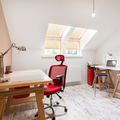 Home office at the attic