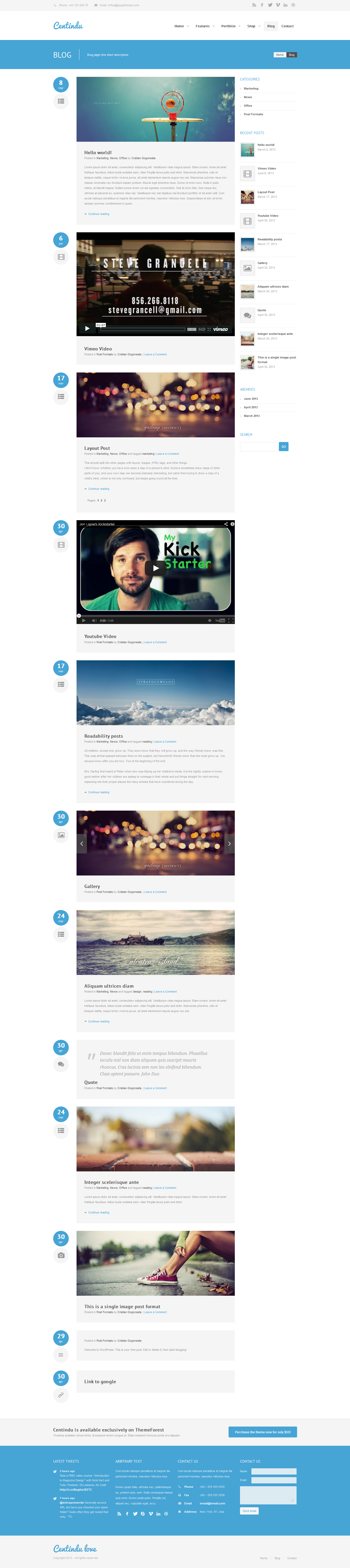 Gmail theme gallery - Centindu Portfolio Shop Wordpress Theme
