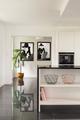 Bright elegant interior with bookcase