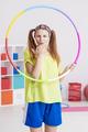 Woman with hula hoop