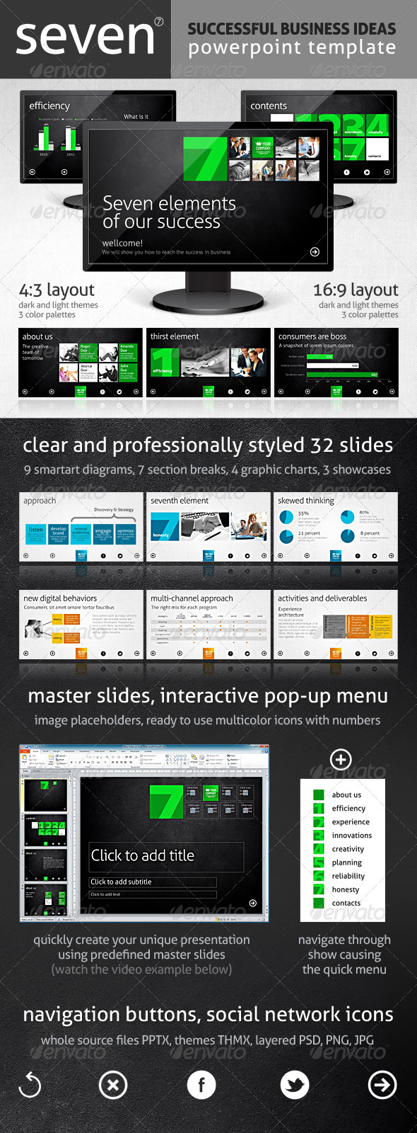 Seven Template - Powerpoint Templates Presentation Templates