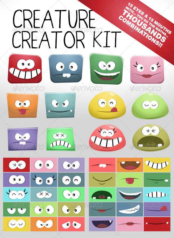GraphicRiver Bloppy Character Creator Kit 1940643