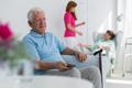 Senior people and caregiver