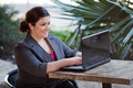 Businesswoman - Telecommuting from Internet Cafe - PhotoDune Item for Sale